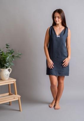 Graphite linen night dress