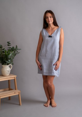 Blue linen night dress