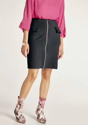 Jersey skirt, black