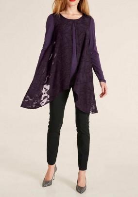 Dviejų sluoksnių violetinė palaidinė