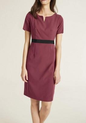 Klasikinė bordo spalvos suknelė