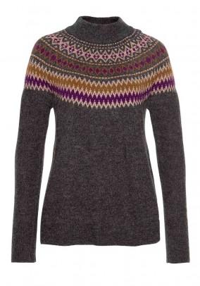 Pilkas vilnonis megztinis