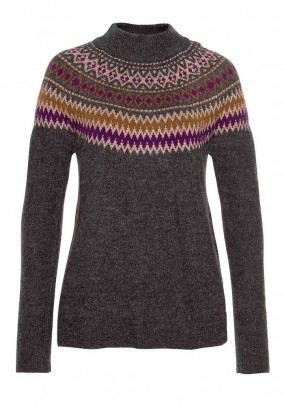 Sweater, grey-multicolour