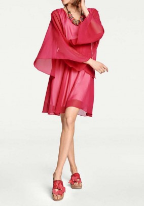 Chiffon dress, raspberry