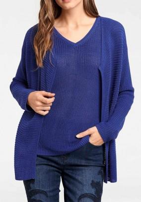 Palaidinės ir megztinio mėlynas komplektas