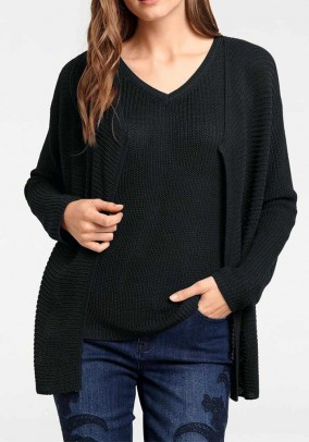 Palaidinės ir megztinio juodas komplektas