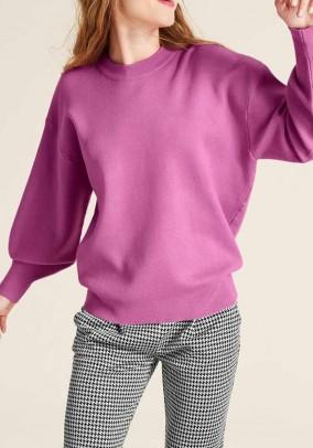 Rausvas plataus silueto megztinis