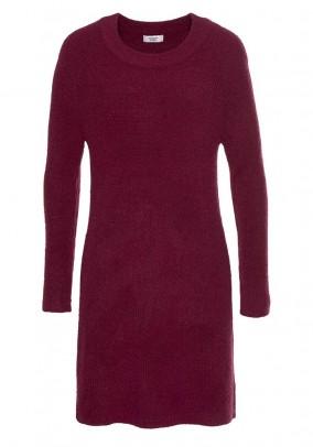 Knit dress, bordeaux