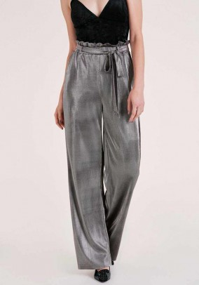 Trousers, silver coloured - metalic