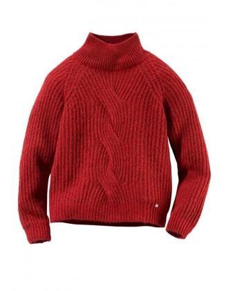 Raudonas moheros megztinis