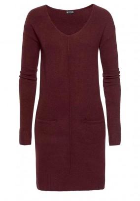 Knit dress, wine red