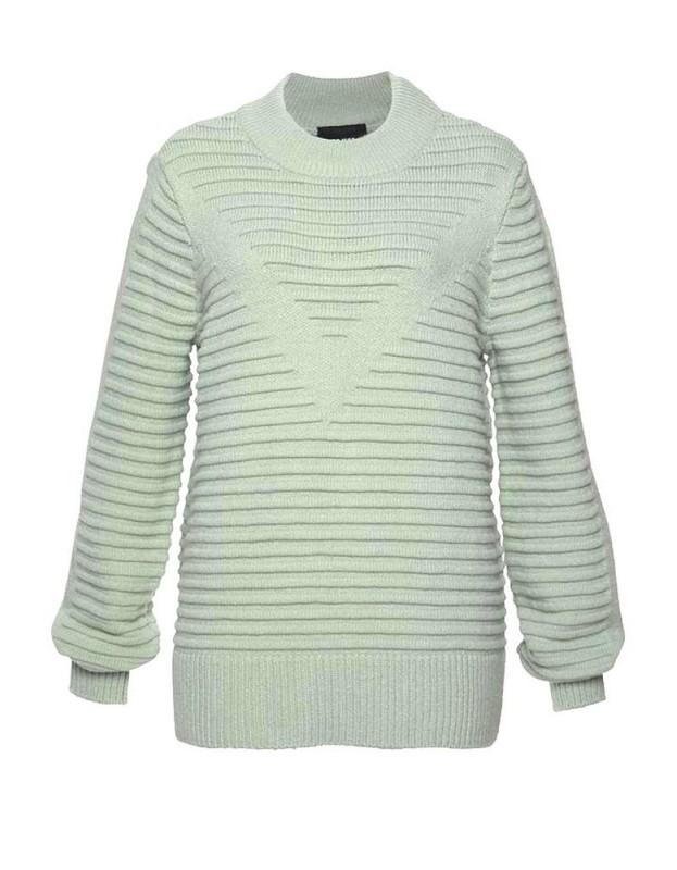 OBJECT mėtų spalvos megztinis