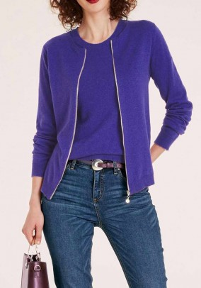 Knit twinset, purple