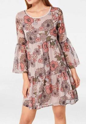 Chiffon dress, rose-multicolour
