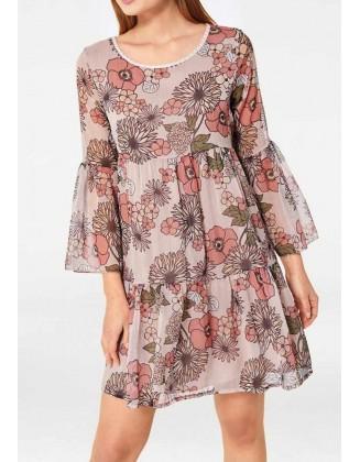 Laisvo silueto romantiška suknelė