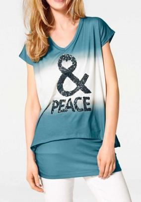 Turkio spalvos marškinėliai