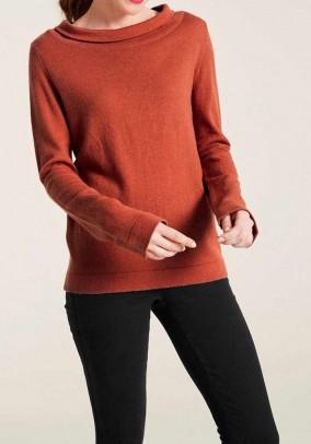 """Oranžinis vilnos ir kašmyro megztinis """"Cesil"""""""