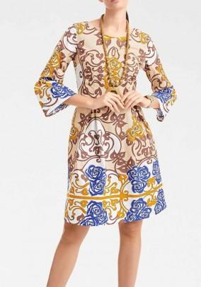 Print dress, multicolour