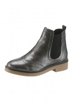 Chelsea boots, silver coloured