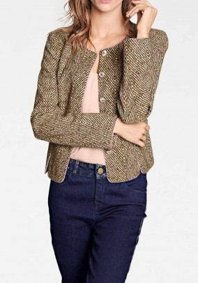 Jacquard blazer, multicolour