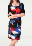 Sheath dress, black-multicolour