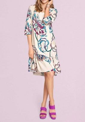 Laisvo silueto marga suknelė
