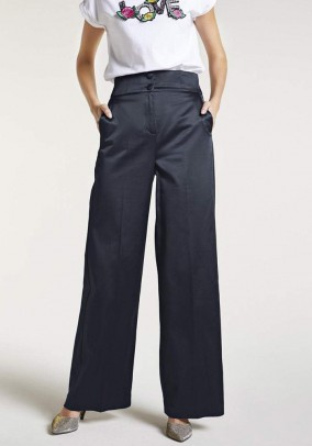 Marlene style trousers, midnight blue
