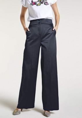 Tamsiai mėlynos plačios kelnės. Liko 38/40 dydis