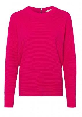 Rib knit sweater, pink