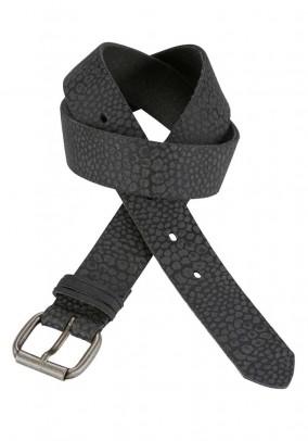 Leather belt, black