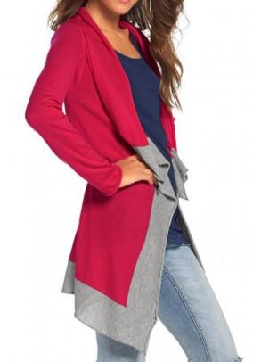 Ilgas rožinis megztinis