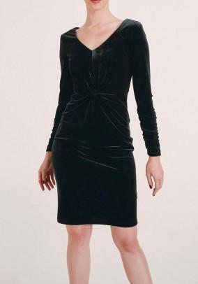 Maža juoda aksominė suknelė