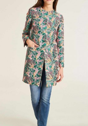 Jacquard coat, multicolour