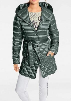 Down coat, green