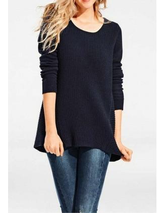 """Tamsiai mėlynas megztinis """"Rib"""""""