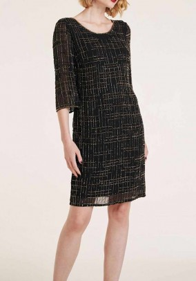 Cocktail dress with beads, black