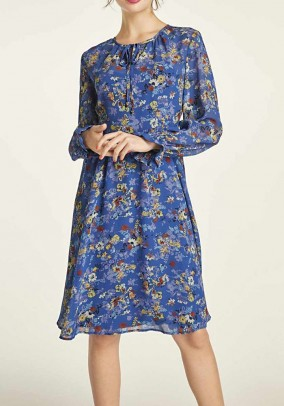 "Mėlyna romantiška suknelė ""Flower"""