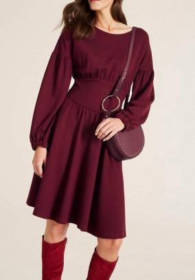 Jersey dress, bordeaux