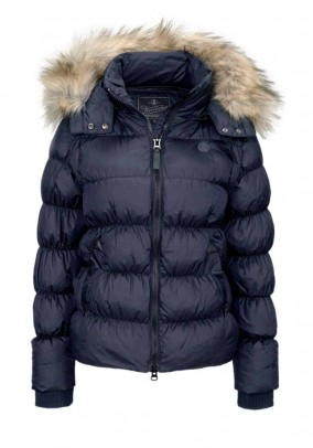 Two-in-one quilt jacket, navy
