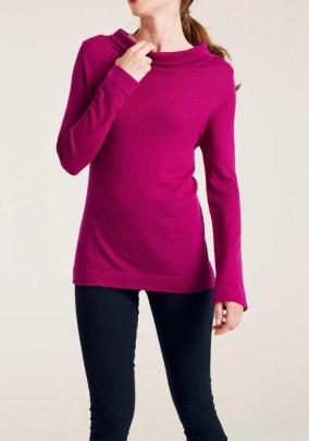 """Rožinis vilnos ir kašmyro megztinis """"Cesil"""""""