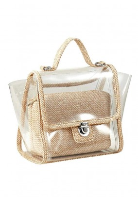 Bag duo, transparent-beige