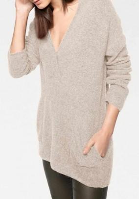 Oversize sweater, sand