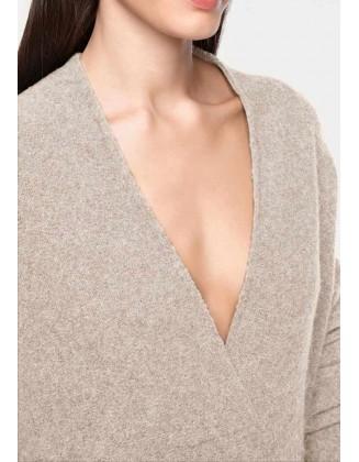 Smėlinis megztinis su alpakų vilna