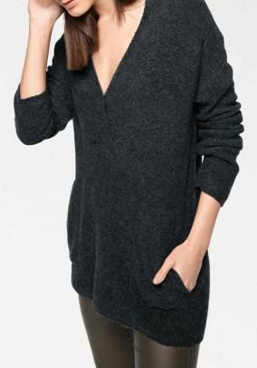 Oversize sweater, black