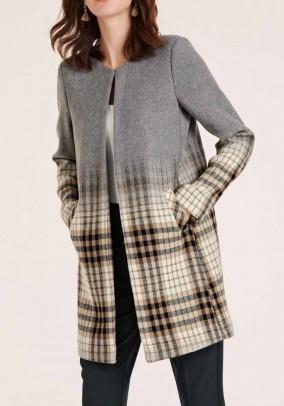 Wool mix blend, grey-multicolour
