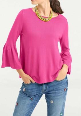 "Rožinis megztinis ""Volant"""