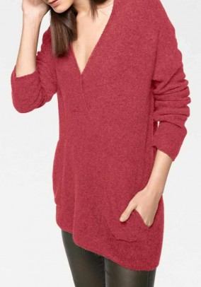Oversize sweater, red