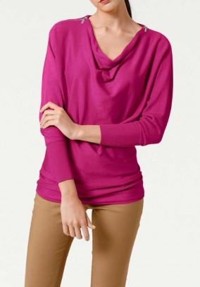 "Rožinis megztinis ""Ziper"""