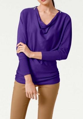 """Violetinis megztinis """"Ziper"""""""