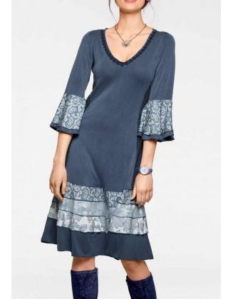 """Mėlyna viskozės suknelė """"Linea"""""""